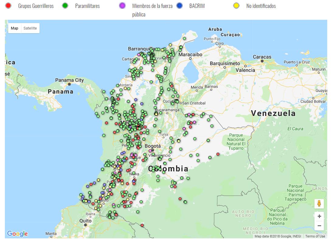 mapa acciones terroristas